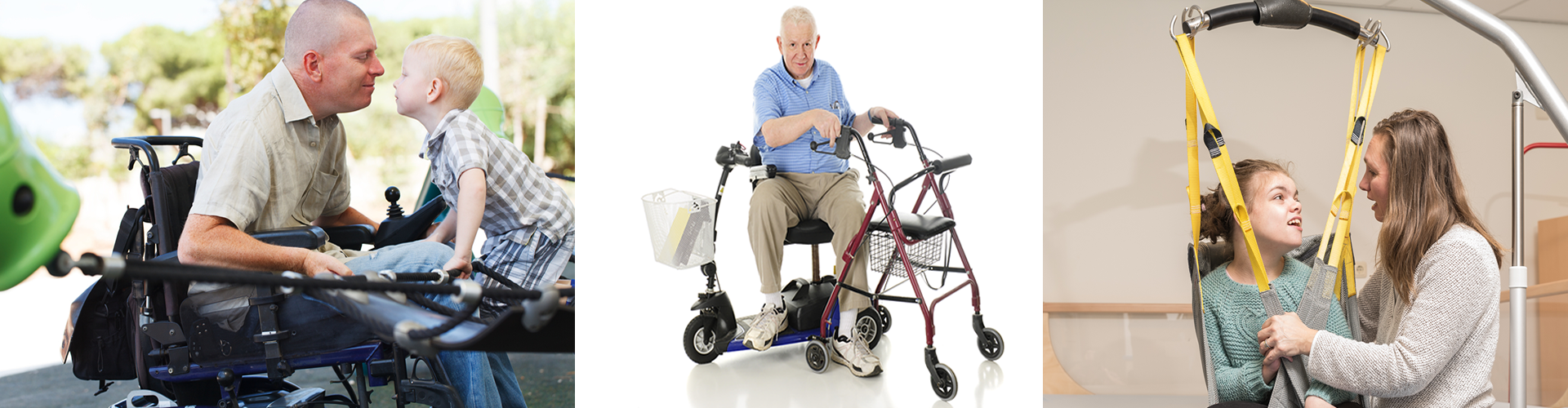 People using assistive technology in daily life